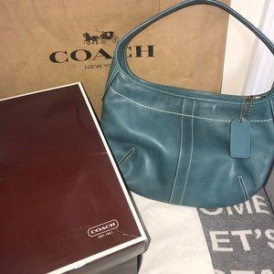 Authentic Coach Turquoise Handbag